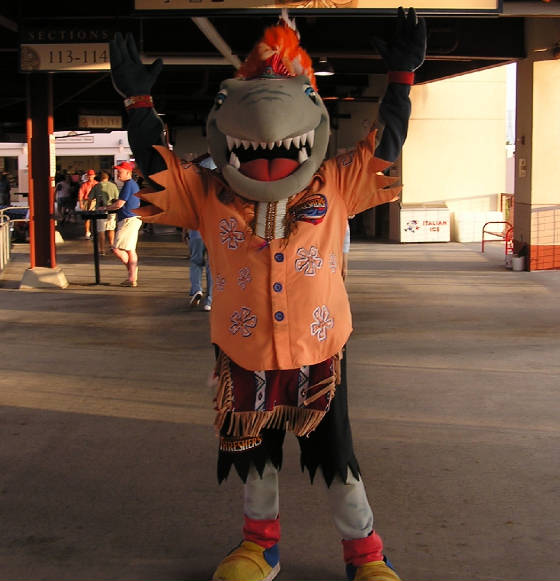 Phinley, the Threshers mascot